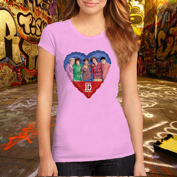 Love One Direction T Shirt, Music T Shirt, Pop Music T Shirt Printed T Shirt, Women T Shirt, (Various Color Available)