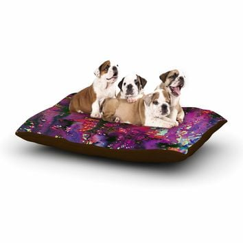 "Ebi Emporium ""PERFECT STORM 2, MAGENTA"" Magenta Purple Abstract Nature Watercolor Painting Dog Bed"