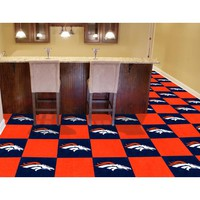 Fan Mats 8567 NFL Denver Broncos 18-Inch Carpet Tiles - (In Square)