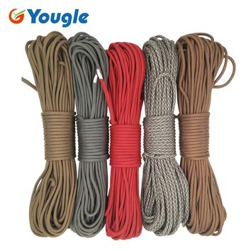 YOUGLE 750LB Paracord Parachute Cord Lanyard Rope Mil Spec Type IV 7 Strand 100FT Outdoor Climbing Camping survival equipment