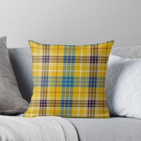 'OTTAWA CITY TARTAN' Throw Pillow by IMPACTEES