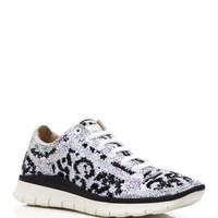 Le Silla Lace Up Sneakers - Crystal Leopard   Bloomingdales's