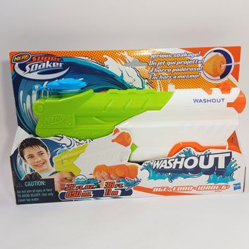 Nerf Super Soaker Wash Out Powerful Stream Water Gun Blaster