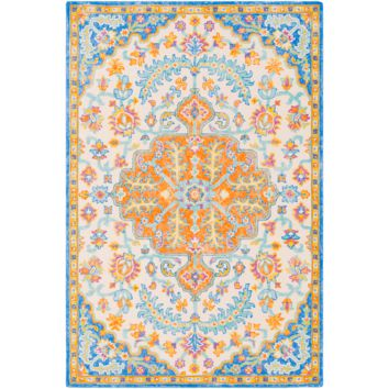 Antigua Rug ~ Bright Blue/Mint/Cream