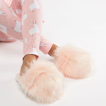Loungeable Faux Fur Slipper at asos.com