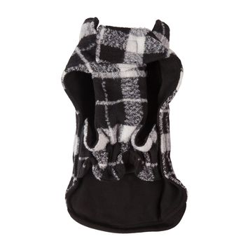 Black/White Plaid Bouclé Coat