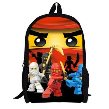 Girls bookbag 16 Inch Lego Ninja Batman Backpack Boys Girls School Bags Men Women Daily Backpack Children Bookbag Shoulder Backpacks Mochila AT_52_3