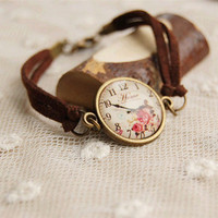 Flower Watch Handmade Bracelet