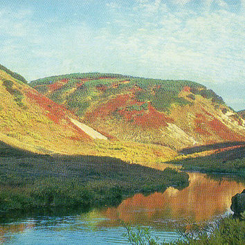 The Upper Reaches of the Shumnaya River. Kronotsky Nature Reserve (Photo I. Weinstein) Vintage Postcard - Printed in the USSR, Moscow, 1976