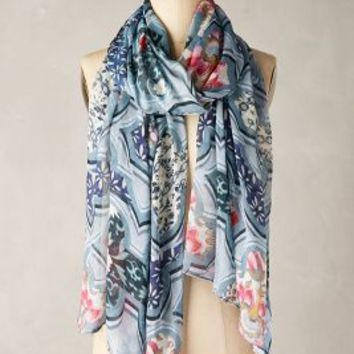 Jancis Scarf by Anthropologie in Blue Size: One Size Scarves