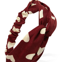 Heart Print Knotted Headwrap