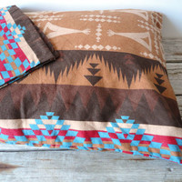 Pair of Indian Teepee Pattern Pillow Cases by GallivantingGirls
