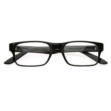 Thin RX'able Square Clear Lens Optical Eyeglasses Eyewear Glasses