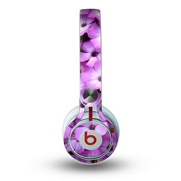 The Purple Flowers Skin for the Beats by Dre Mixr Headphones