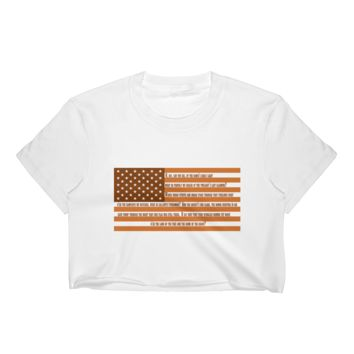 Austin Star Spangled Banner US Flag Women's Crop Top