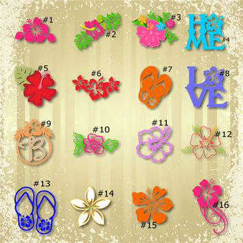 HIBISCUS FLOWER COLLECTION vinyl decals * tumbler decals * car decals * tropical decals * hibiscus decals * tropical flower decals