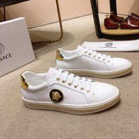Versace Man Fashion Casual Shoes Men Fashion Boots fashionable Casual leather Breathable Sneakers Running Shoes