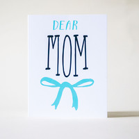 The Paper Cub Dear Mom Card