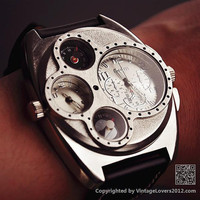 Man Watch Steampunk Mechanical (WAT0097-WHITE)