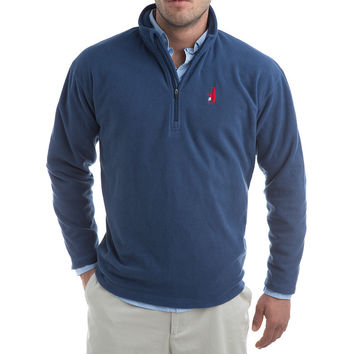 1/4 Zip Fleece Pull-Over Fleece in Depth Blue by Johnnie-O