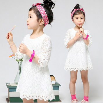 Summer Lace Vest Girl Dress Baby Girl Princess Dress Chlidren Clothes Kids Party Costume Ball Gown Girls Dress Fami Clothingly