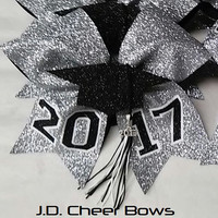 The Original 3D 2017 Graduate/Tassel Bow-Choose your Colors, Graduation Bow, Graduate Bow, Senior Bow, Senior Cheer Bow