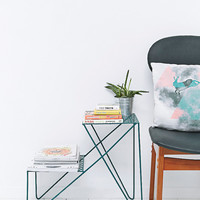 Two-Tier Side Table in Teal - Urban Outfitters