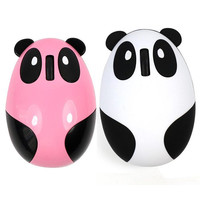 Factory Price Cute Panda Style 2.4GHz Wireless Optical Computer Mouse Compatible with Windows/Linux/Android/Mac goodbiz