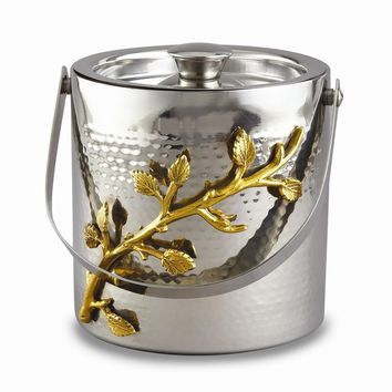 Stainless Steel Golden Vine Hmmrd Ice Bucket