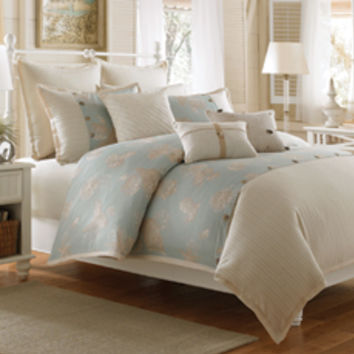 Coastal Life Luxe Seashell Full/Queen Duvet Cover