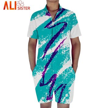 Alisister 3D Paper Cup Rompers For Men
