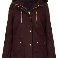 Fur Trim Short Parka Jacket - Jackets & Coats  - Clothing