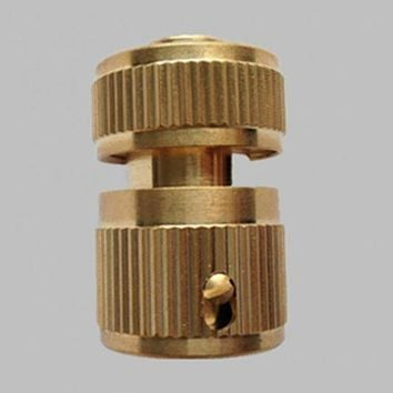 VONL8T For 1/2inch Water Pipes Car Washing High Quality Copper Metal Threaded Water Pipe/Water Gun Connector Tube Tap Snap Adaptor