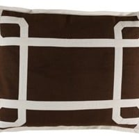 Seville 16x22 Pillow, Brown, Decorative Pillows