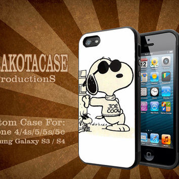 joe cool snoopy hard palstic for iphone and samsung galaxy