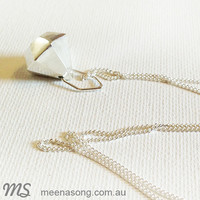 FACETED PENDANT LARGE by Meena Song Jewellery