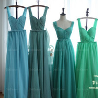 Spring Green Open Back Prom Dress Light Chiffon Bridesmaids Dress Sexy Homecoming Dress Evening Dress