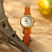 Women Retro Leather Watch Vintage Style Wrist Watch (WAT0051)