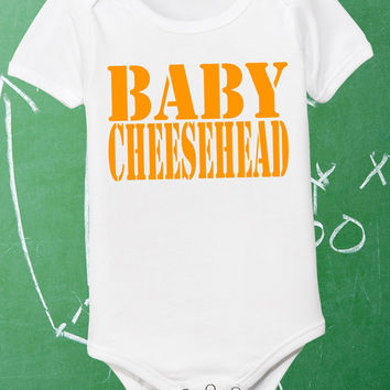 2edbda35 Baby Cheesehead Infant Shirt Lil Packer Fan Newborn Green Bay Packers Tee  Little Boys Girls White Pink 0 6 12 18 24 Jumper Bodysuit