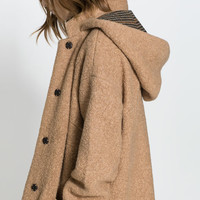 LARGE HOODED DUFFEL COAT