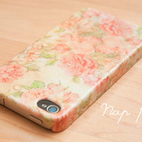 Case for Iphone 4 handmade: Vintage Rose