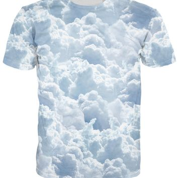 Clouds All Over Full Print 3D Diy Sublimated Polyester Blend Unisex T-Shirt
