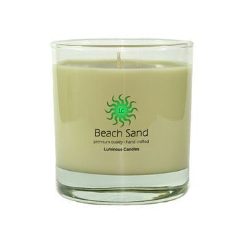 Beach Sand Soy Scented Candle, 8 oz Premium Tumbler Jar Candle, Hand Poured Candle, Scented Candle, Sand Color Candle