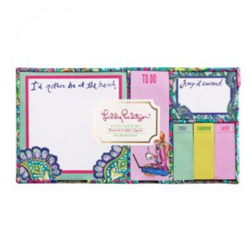 Lilly Pulitzer Lilly's Lagoon Sticky Note Set