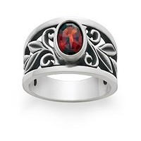 Abounding Vine Ring with Garnet | James Avery