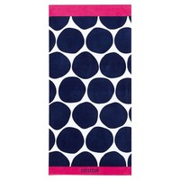 Bubble Dot Beach Towel, Navy