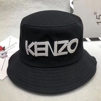 """Kenzo"" Unisex All-match Casual Letter Bucket Hat Fisherman Cap Couple Fashion Sun Hat"