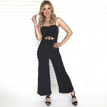 Tip Toe Black Jumpsuit