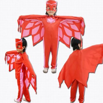 pj masks birthday party costumes for kids catboy clothes halloween costume boys girls catboy owlette gekko fancy dress cosplay