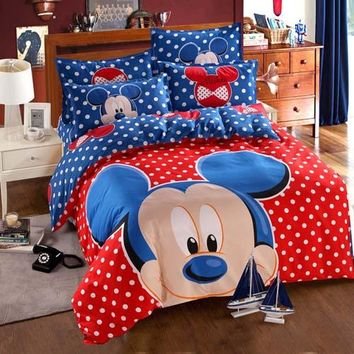 Mickey Mouse Dotted Bedding Set